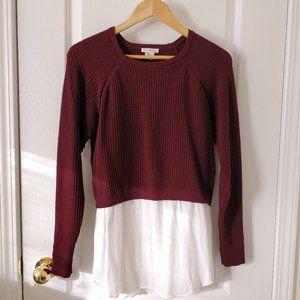 ✨CLUB MONACO Layered Knit Sweater Sz S